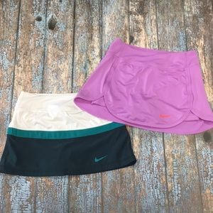 Two Nike athletic skirts